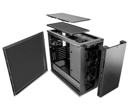 Fractal Design kućište Define R6 USB-C Gunmetal MidiATX, crno