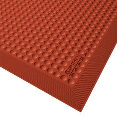 Červená gumová kuchyňská protiúnavová rohož Skystep, Red - 1,3 cm