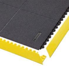 Černá gumová modulární průmyslová rohož Cushion Ease Solid, Nitrile - délka 91 cm, šířka 91 cm a výška 1,9 cm