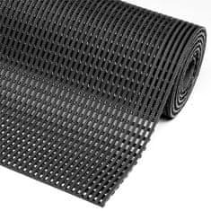Černá olejivzdorná protiskluzová průmyslová rohož Flexdek - 10 m a 1,2 cm
