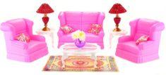 Lamps Glorie Obývacia súprava pre bábiky typu Barbie