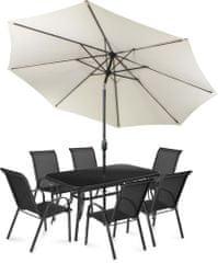 Fieldmann zestaw mebli ogrodowych Mona 6 z parasolem, kremowy