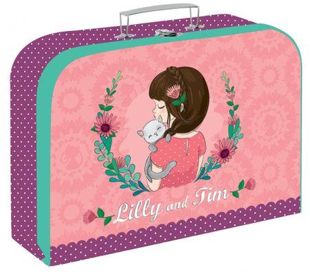 Karton P+P otroški kovček Lilly, 34 cm