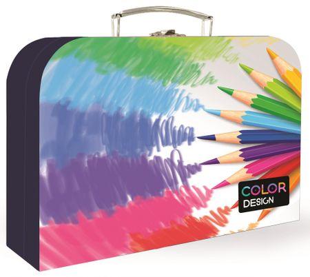 Karton P+P otroški kovček, pastelne barvice, 34 cm