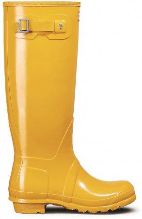 HUNTER Original Vysoké holínky lesklé - 37, žlutá