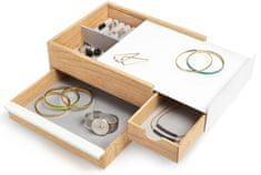 Umbra Pudełko na biżuterię STOWIT biały / naturalny 290245668