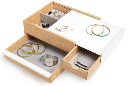 Umbra Škatla za nakit STOWIT bela / naravna 290245668