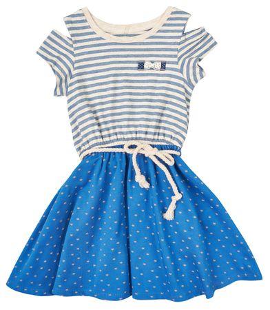 Garnamama dievčenské šaty 104 modrá