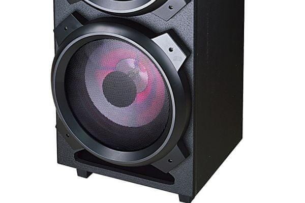 hordozható hangszóró Bluetooth akai dj-3210 aux Bluetooth fm rádió hálózati tápellátás usb kábel led kijelző usb bemenet