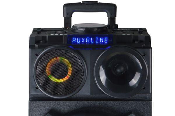 akai dj 3210 dj hordozható nahgszóró funkciók és hatások extravagáns design darab led világítás party aux bemenet tiszta hang mic bemenet a mikrofon tartozék