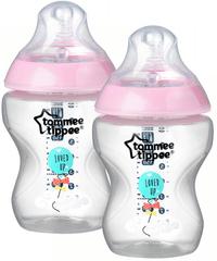 Tommee Tippee Dojčenská fľaša C2N s obrázkami 2ks 260ml 0m+