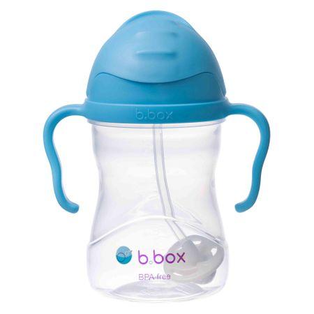 b.box Sippy cup csésze szívószállal kék