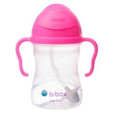 b.box Sippy cup hrneček s brčkem růžová - použité