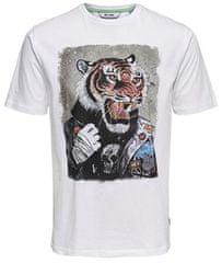 ONLY&SONS Męska koszulka Lori s z koszulką Ss Funny White