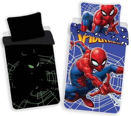 Jerry Fabrics Spider-man ágyneműhuzat - világító hatás