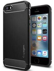 Spigen Ochranný kryt Rugged Armor pro Apple iPhone 5, černý 041CS20167