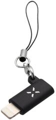 Fixed Redukcia Link pre nabíjanie a dátový prenos z microUSB na Lightning Fixa-ML-BK, čierna