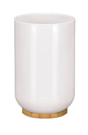 Kleine Wolke TIMBER kubek łazienkowy biały