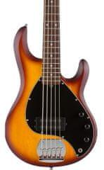 Sterling by MusicMan SUB Ray5 Honeyburst Satin, Rosewood Fretboard