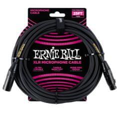 Ernie Ball 6073 Microphone Classic Cable - mikrofonní kabel XLR / XLR - 7.62m - černá barva - 1ks