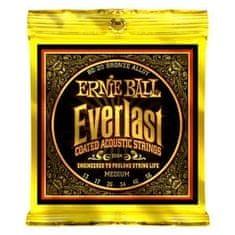 """Ernie Ball 2554 Everlast 80/20 Bronze Medium Coated /13-56/ - """"potažené"""" struny na akustickou kytaru"""