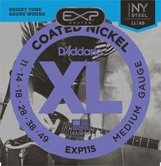 Daddario EXP115 Coated Nickel NY Steel Electric Regular Medium .011-.049 struny na elektrickou kytaru