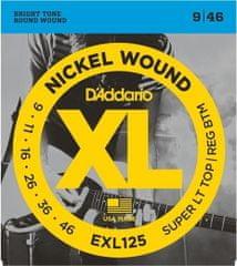 Daddario EXL125 Nickel Wound Electric Super Light Top-Reg. Bottom .09-.046 struny na elektrickou kytaru