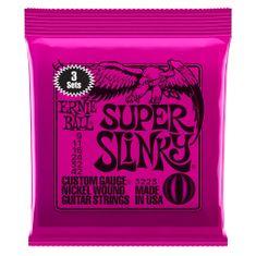 Ernie Ball 3223 Nickel Super Slinky Pink Electric Guitar Strings 3 Pack