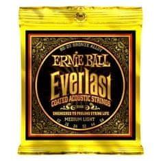 """Ernie Ball 2556 Everlast 80/20 Bronze Medium Light Coated /12-54/ - """" potažené """" struny na akustickou kytaru"""