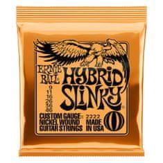 Ernie Ball 2222 Hybrid Slinky Nickel Wound .009 - .046 Orange Pack struny na elektrickou kytaru