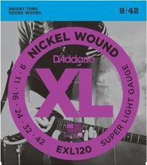 Daddario EXL120 Nickel Wound Electric Super Light .09-.042 struny na elektrickou kytaru