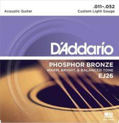 Daddario EJ26 Phosphor Bronze Acoustic Light .011-.052 struny na akustickou kytaru