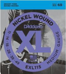 Daddario EXL115 Nickel Wound Electric Blues/Jazz Rock .011/.049 struny na elektrickou kytaru