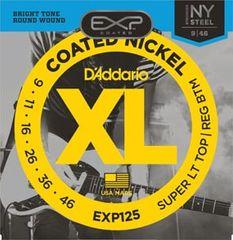 Daddario EXP125 Coated NY Steel Electric Super Light Top/Regular Bottom .09-0.46 struny na elektrickou kytaru