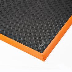 Černo-oranžová olejivzdorná průmyslová extra odolná rohož Safety Stance Solid - 2 cm