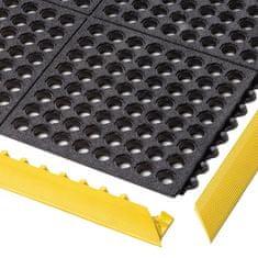 Černá modulární průmyslová rohož Cushion Easy, Nitrile GSII FR - 91 x 91 x 1,9 cm