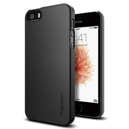 Spigen Ochranný kryt Thin Fit pro Apple iPhone SE/5/5S, černý 041CS20168
