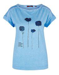 s.Oliver Dámske tričko 14.904.32.4410.55D1 Bleu Placed Print
