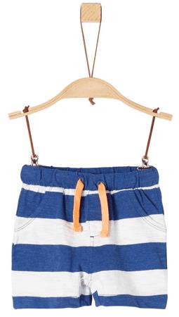s.Oliver fiú rövidnadrág 62 fehér/kék