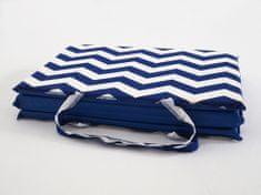 B.E.S. Petrovice Plážové lehátko - Modro bílé cik cak