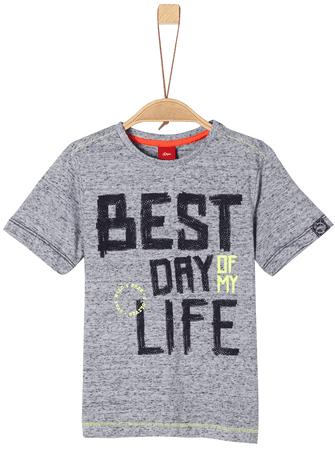 s.Oliver chlapčenské tričko 116 - 122 sivá