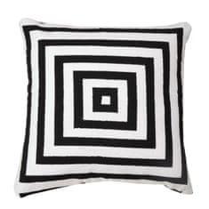 Vankúš, bavlna/vzor čierny pásik, 30x30, NOVEL TYP 2