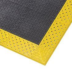 Černá plastová rohož Cushion Lok HD Solid - 2,2 cm