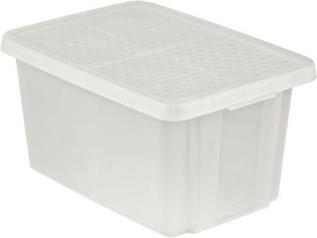 CURVER úložný box ESSENTIALS 45 l s vekom priehľadný