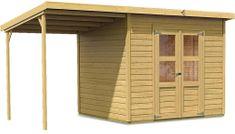 KARIBU dřevěný domek KARIBU MERSEBURG 5 + přístavek 166 cm (68767) natur