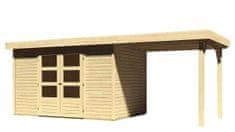 KARIBU dřevěný domek KARIBU ASKOLA 4 + přístavek 240 cm (73247) natur