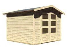 KARIBU dřevěný domek KARIBU AMBERG 4 (82973) natur