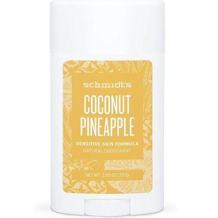 Schmidt's Dezodor stick érzékeny bőrre Sensitiv e Coconut ananász (Deo Stick) 58 ml