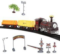 Eddy Toys zestaw - kolejka 11 elementów + 8 szyn, żółty