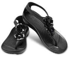 Crocs Női szandál Serena Díszes Flip W 205600-060 Black / Black